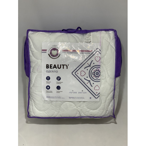 Одеяло «Beauty» всесезонное, ЕВРО, микрофибра