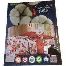 Комплект постельного белья «Сатин» розовые цветы