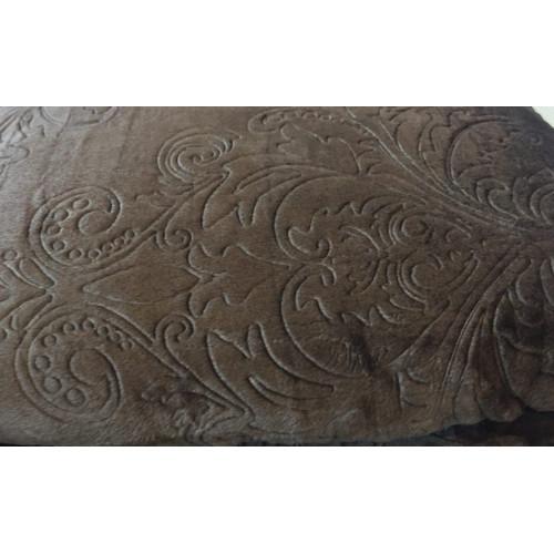 Плед «Велсофт» однотонный коричневый