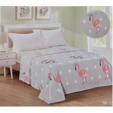 Плед «Велсофт» розовый фламинго