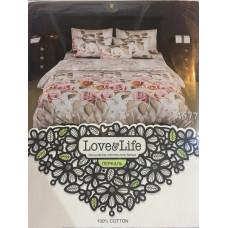 Комплект постельного белья «Перкаль» Букет роз
