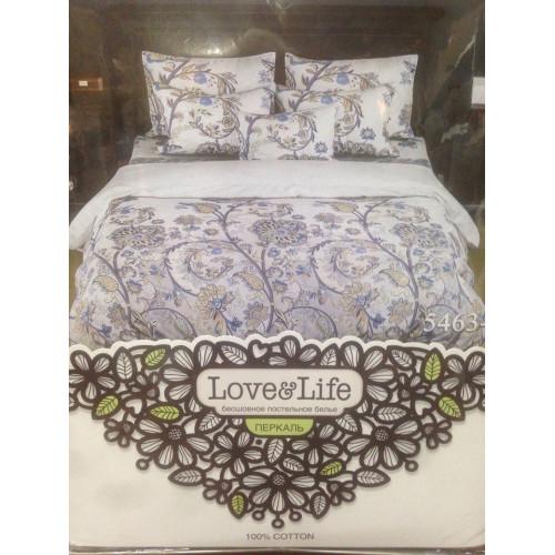 Комплект постельного белья «Перкаль» Синие цветы