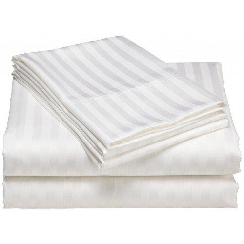 Комплект постельного белья «Страйп-сатин» отбеленный