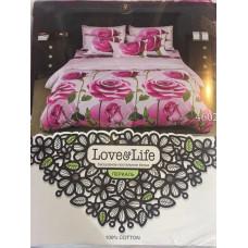 Комплект постельного белья «Перкаль» Розы