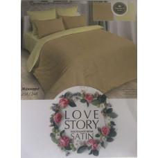 Комплект постельного белья «Жаккард-сатин» желтый с бежевым